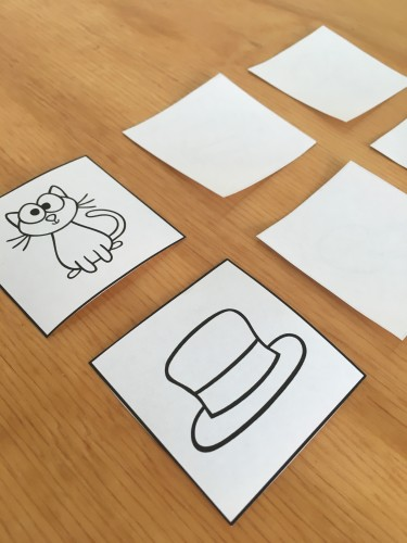 Download this free rhyming word memory and get other ideas for phonological awareness activities!
