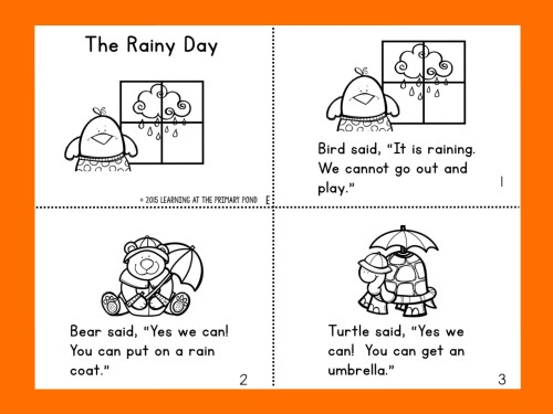 The Rainy Day Page 1 for Running Record Demonstration