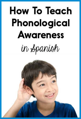 This post has tons of ideas and freebies for teaching phonological awareness and phonemic awareness in Spanish!