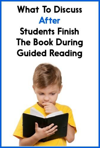 There's so much that you COULD talk about after students finish the book...so how do you choose? This post explains!