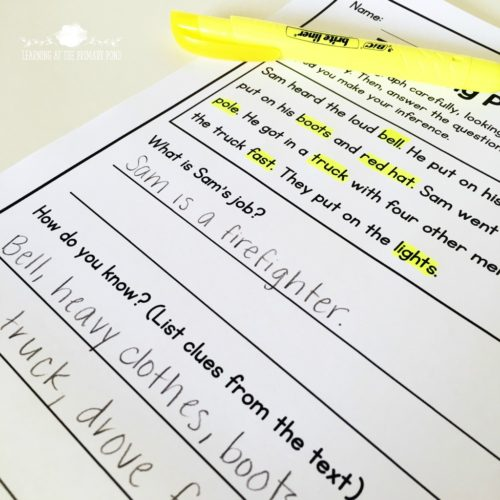 This post has tons of detailed ideas for teaching inferring - and several different lessons and activities you can download for FREE! These resources will help you teach Kindergarten, first, or second grade students to make inferences.