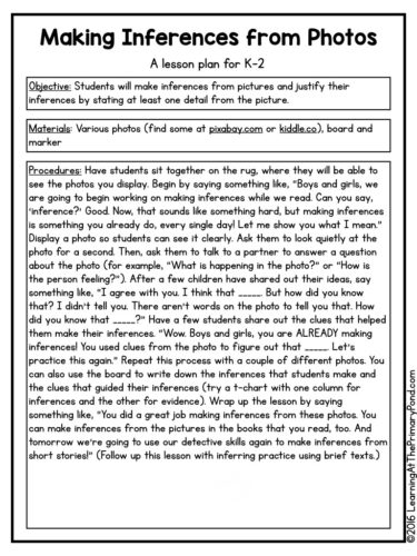 5 Activities, Lessons, and Ideas for Teaching Inferring in