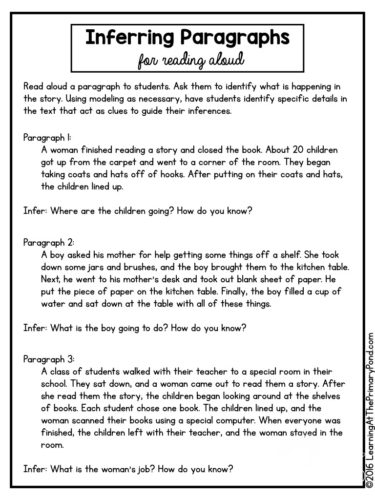 5 Activities, Lessons, and Ideas for Teaching Inferring in the ...