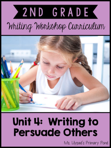 Opinion and Persuasive Writing Lessons for Second Grade