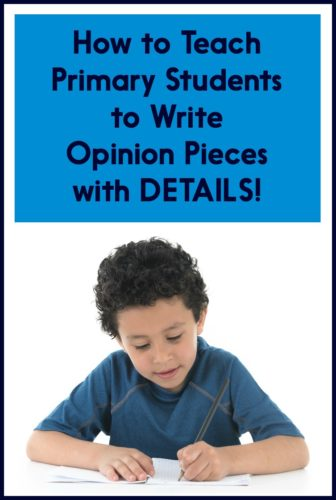Help your students be more detailed in their opinion writing with these lesson ideas! Grab the free writing lesson plans too (for Kindergarten, first grade, or second grade).