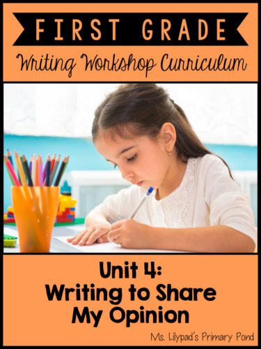 Opinion and Persuasive Writing Lessons for First Grade