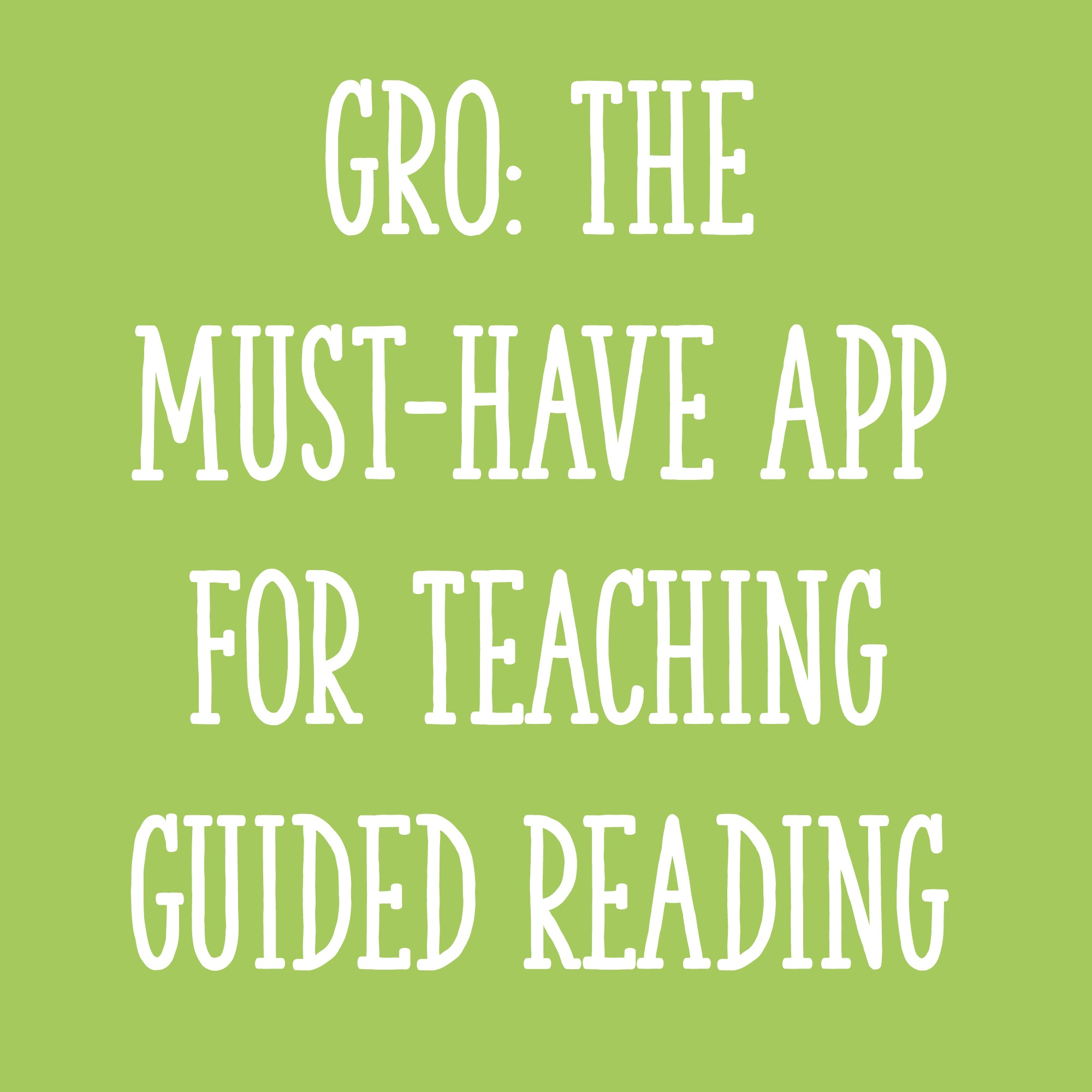Gro the must have app for teaching guided reading learning at the gro the must have app for teaching guided reading learning at the primary pond geenschuldenfo Image collections