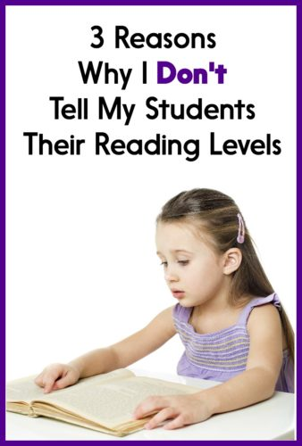 One year, I had to tell students their reading levels. In this post, I explain why I won't do that again.