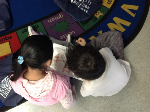 Partner reading activity - read the full post for 50+ centers ideas for Kindergarten, first, and second grade!