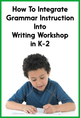Grammar instruction is more meaningful and effective when integrated into writing instruction. Read this post for practical strategies for teaching grammar and conventions during your Kindergarten, first grade, or second grade writing workshop!