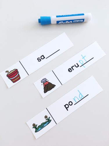 Ending blends activity for guided reading