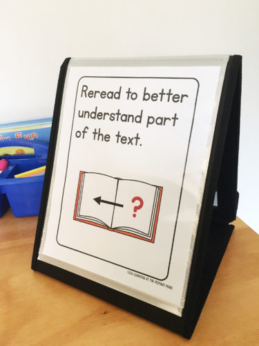 Comprehension strategy poster for guided reading