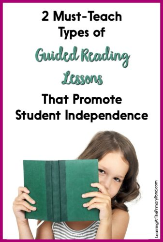When I started grouping my guided reading lessons into two different categories, everything changed! Read this post to learn the two types of guided reading lessons I use with my Kindergarten, first grade, and second grade students.