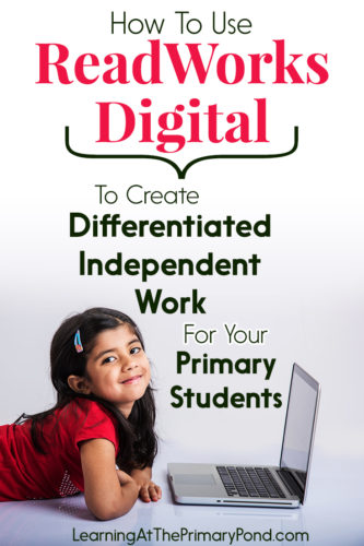 ReadWorks's FREE new site lets students access articles digitally! The site is great for differentiated, meaningful independent work or centers.