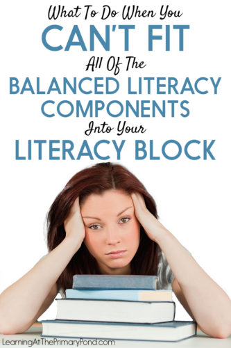 Can't fit it all in? Check out this post for ideas about how to save time during your Kindergarten, first grade, or second grade literacy block.