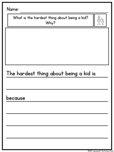 This writing resource has paper options with or without sentence starters so that you can differentiate for your students.