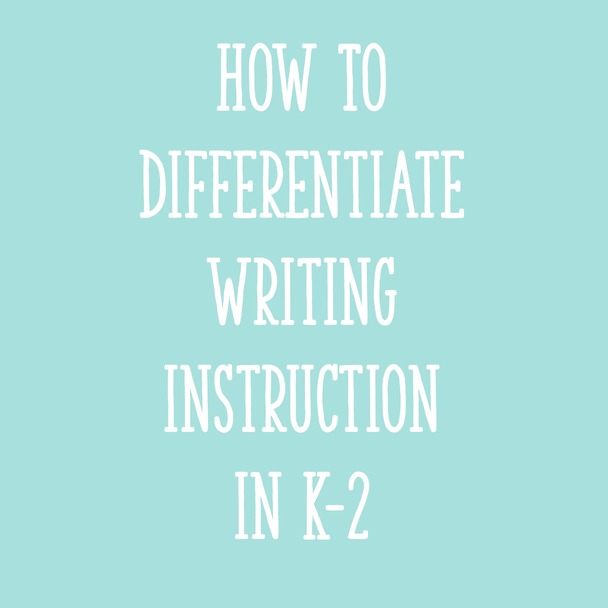 differentiated instruction essay Free essay: introduction as described by hall, strangman, & meyer (2011), differentiated instruction [di] allows teachers to build flexibility into their.