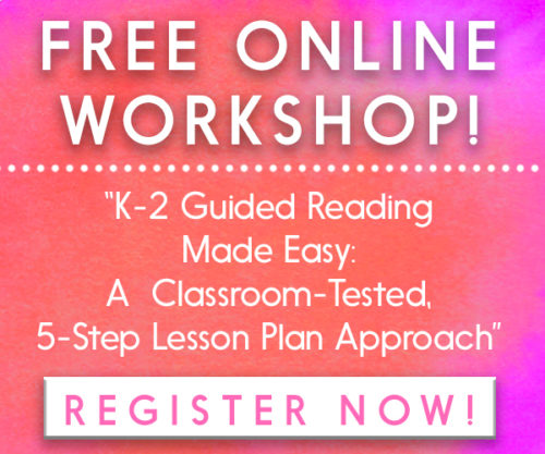 FREE guided reading workshop for K-2!