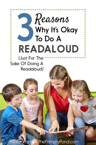 If you've ever wondered (or been questioned) about the value of readalouds, check out this post! Readalouds motivate students to read, build vocabulary, and serve a variety of other purposes.