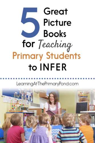 This post has 5 great books for teaching primary students to make inferences! Also included are comprehension questions for Kindergarten, first grade, or second grade.