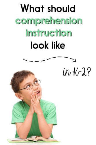 Should primary students be expected to think deeply about text? If so, how can we teach those comprehension strategies? This post has tips and ideas for teaching comprehension in Kindergarten, first, and second grade!
