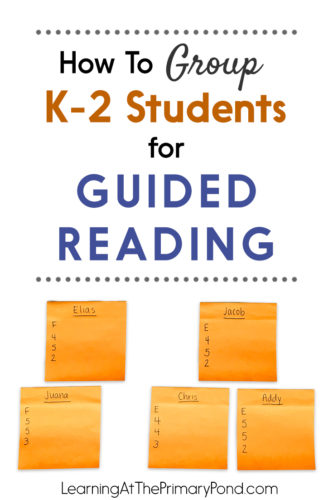 How To Group K 2 Students For Guided Reading Learning At