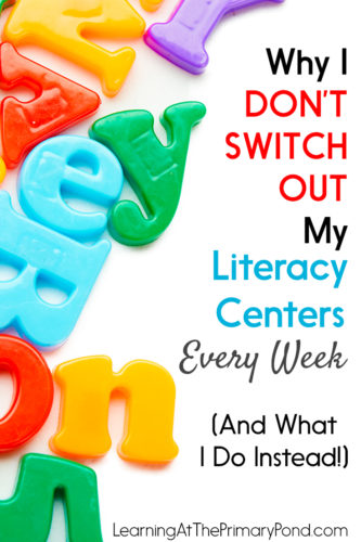 Instead of changing out my centers weekly, I use a different approach. It's made ALL the difference with my students! Read the post to learn about it and get a freebie.