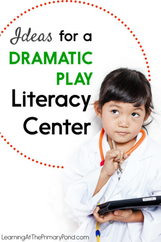 Do you incorporate play into your literacy centers? In this post, I explain why I do - and give ideas for setting up a dramatic play literacy center! This is great for Kindergarten!