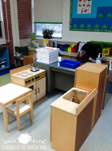 This post has ideas for a literacy-based dramatic play center!