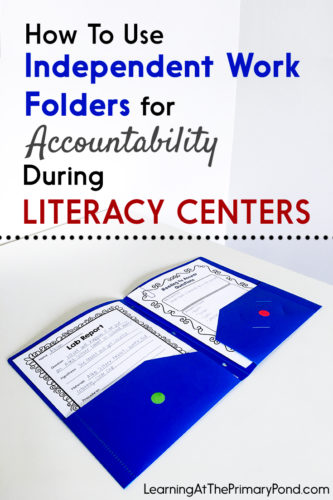 How do you keep track of papers during literacy centers? In this post, I share a VERY simple folder strategy!