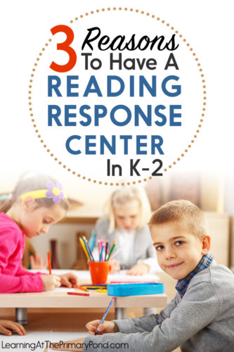 Get reading response activity ideas in this blog post for kindergarten, first grade, or second grade! Perfect for literacy centers!