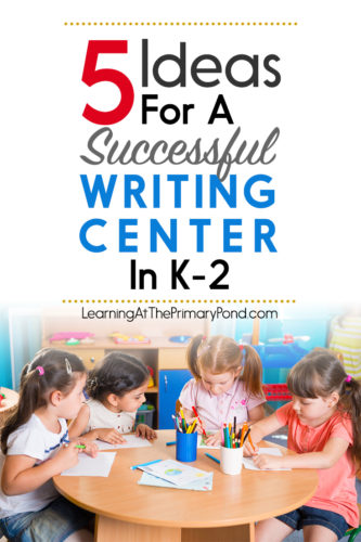 This post has ideas for your writing center! Perfect for kindergarten, first grade, or second grade.