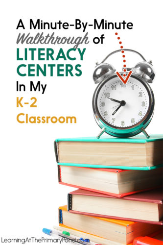 In this post, I walk you through, minute-by-minute, my literacy centers block! This example is from Kindergarten, but it would apply to first or second grade also.