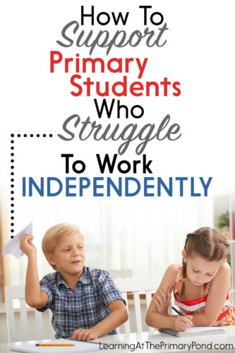 If you have students who struggle with their independent work skills, this post has 3 ideas and a freebie to help! These ideas work great in Kindergarten, first grade, and second grade.