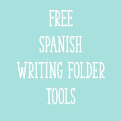 FREE Spanish Writing Folder Tools