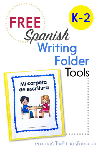 Are you teaching writing in Spanish? Download these FREE writing folder tools for Kindergarten, first, and second grade!