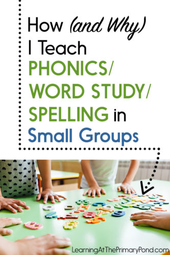 Small group instruction is SUPER effective for word study or phonics instruction! Learn how to do it in this blog post for Kindergarten, first grade, and second grade teachers.