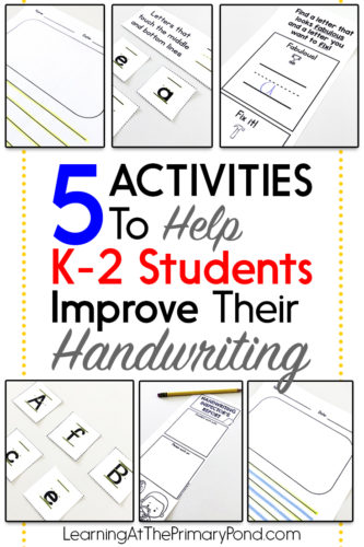 Looking for some fun handwriting activities? Read this post for handwriting ideas for Kindergarten, first grade, and second grade!