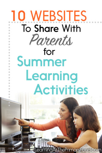 Looking for some summer learning activities? This blog post has 10 websites to try! (For parents of Kindergarten, first, and second grade students)