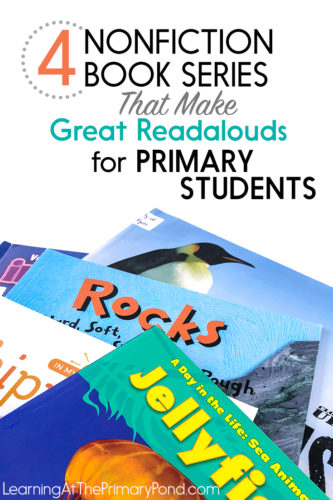Looking for some great nonfiction readalouds? Check out this post for ideas for Kindergarten, first, and second grade!