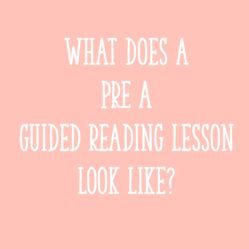 What does a Pre-A guided reading lesson look like?