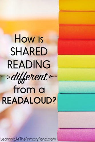 Ever wondered what the difference is between shared reading and a readaloud? Find out in this post!