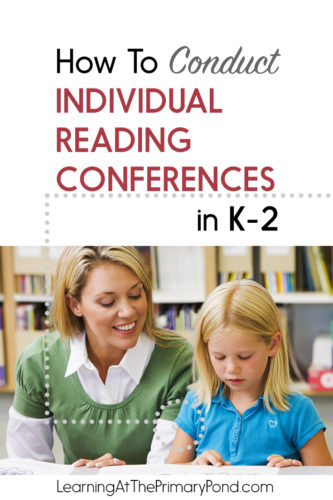 Wondering how to conduct reading conferences in your reading workshop? This blog post has tips for Kindergarten, first, and second grade teachers!