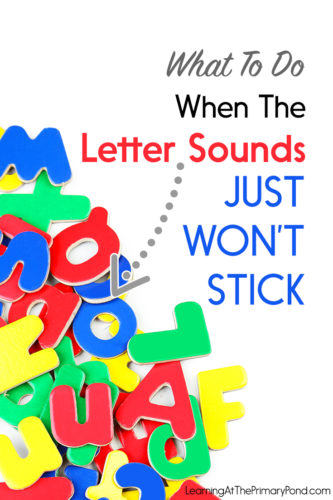 Do you have some Kindergarten or first grade students who are struggling with letter sounds? This post has teaching strategies and tips to help!