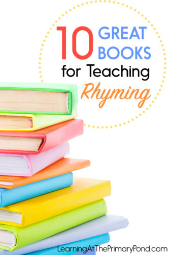 Looking for some great books for working on rhyming words? This post has 10 rhyming books that are great for preschool or Kindergarten!