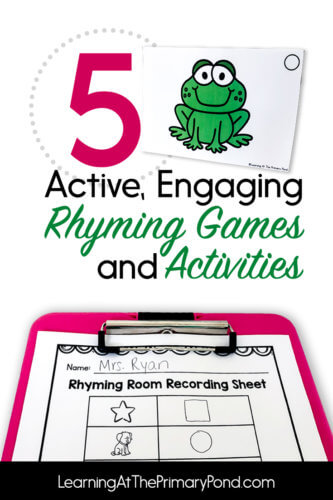 Looking for some rhyming games and activities? Check out this post for 5 ideas and FREE downloads!
