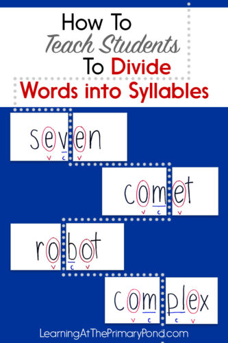 Do you teach your students the syllable division rules? If you teach first grade, second grade, or higher, these are must-know rules! Knowing how to break up words into syllables helps students with decoding and understanding vowel sounds. Learn all about the syllable division rules in this post!