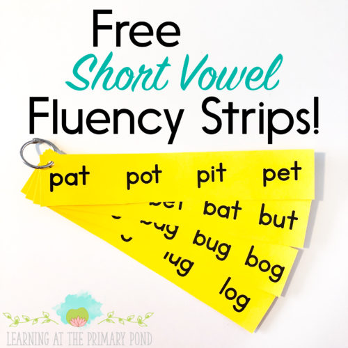 These free fluency strips are a great way for students to practice paying close attention to the vowel sound in a word! Read the entire post for more short vowel activities AND to grab all the freebies!