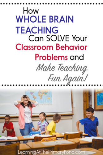 If you have a tough class, need some new classroom management strategies, or just want to make teaching fun again, you're going to love this post! Heidi Martin explains what Whole Brain Teaching is and how it can transform the academics and behavior in your classroom. Click to watch the interview or save the post for later!