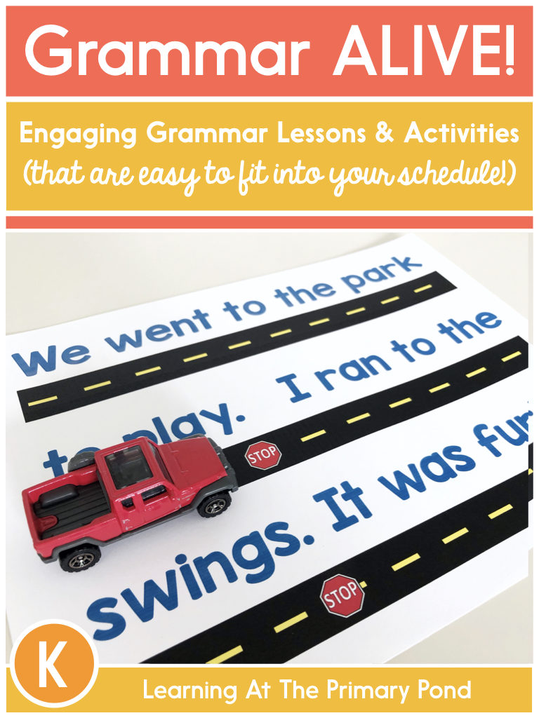 Grammar ALIVE! Engaging grammar lessons and activities for Kindergarten that are easy to fit into your busy schedule.